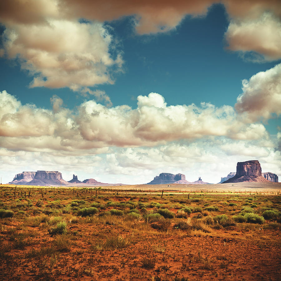 Monument Valley Panoramic View Photograph by Franckreporter