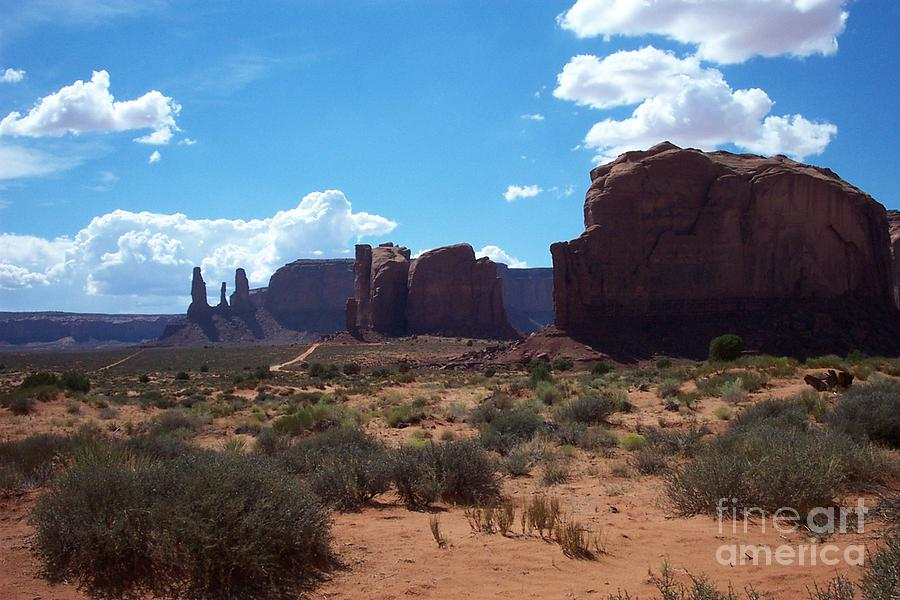 Monument Photograph - Monument Valley Scenic View by Christiane Schulze Art And Photography