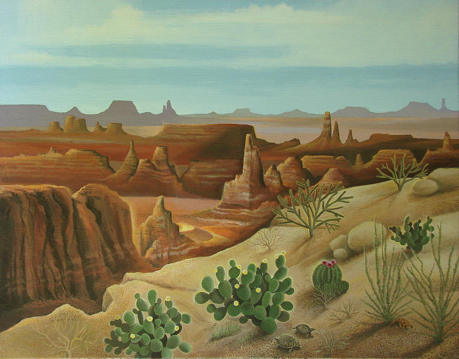Desert Landscape Painting - Monument Valley by Stuart Swartz