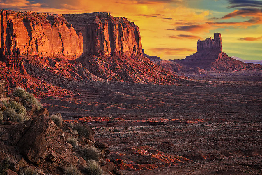 Monument Valley Tribal Park Photograph - Monument Valley Sunrise by Priscilla Burgers