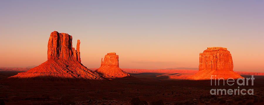 Monument Photograph - Monument valley sunset pano by Jane Rix