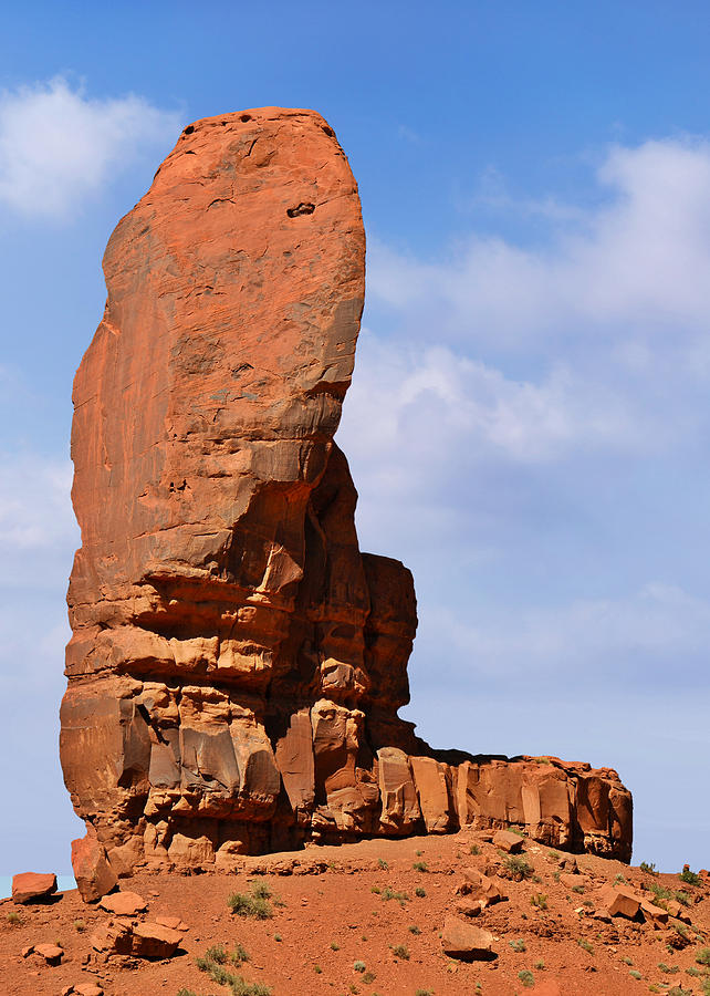 Monument Photograph - Monument Valley - The Thumb by Christine Till