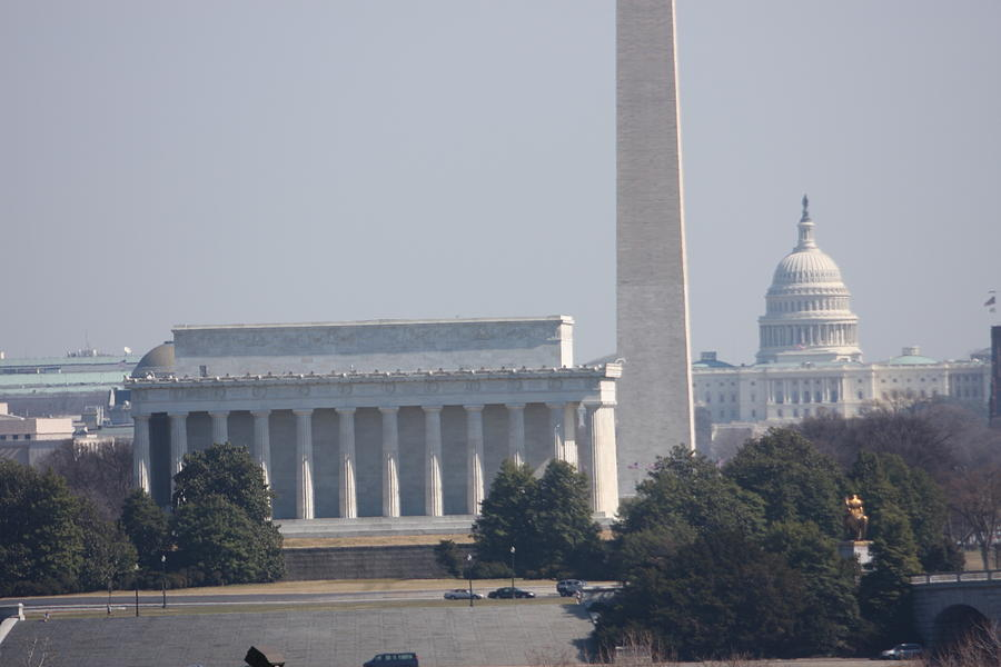 Lincoln Photograph - Monument View From Iwo Jima Memorial - 12122 by DC Photographer