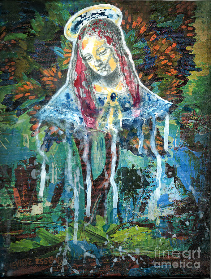 Mary Painting - Monumental Tree Goddess by Genevieve Esson