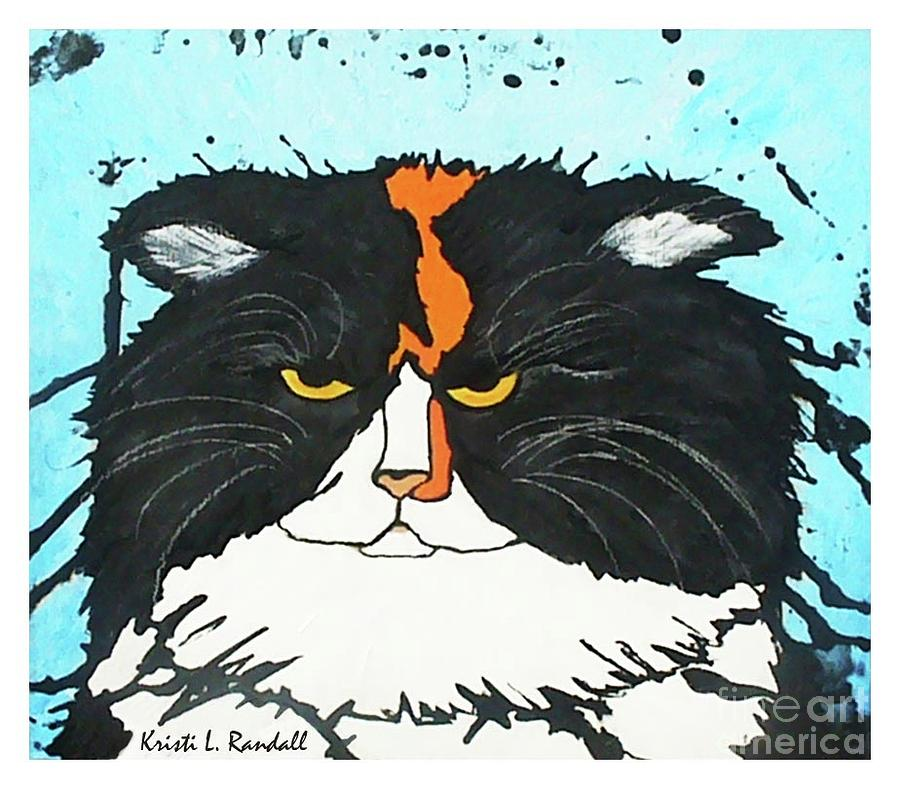 Calico Cat Painting - Moo Shu Cat by Kristi L Randall
