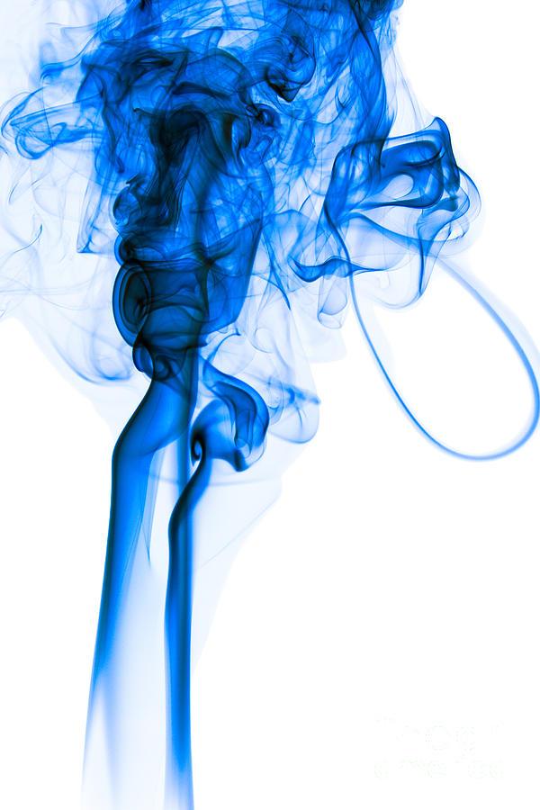 Smoke Blue Wall Decor : Mood colored abstract vertical deep blue smoke art