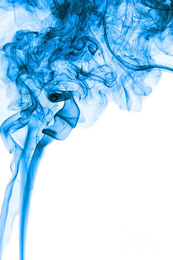 abstract vertical deep blue mood colored smoke art 03