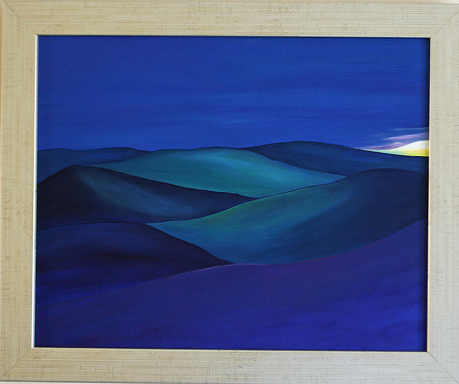 Scottish Artist Painting - Moody Blue by Aileen Carruthers