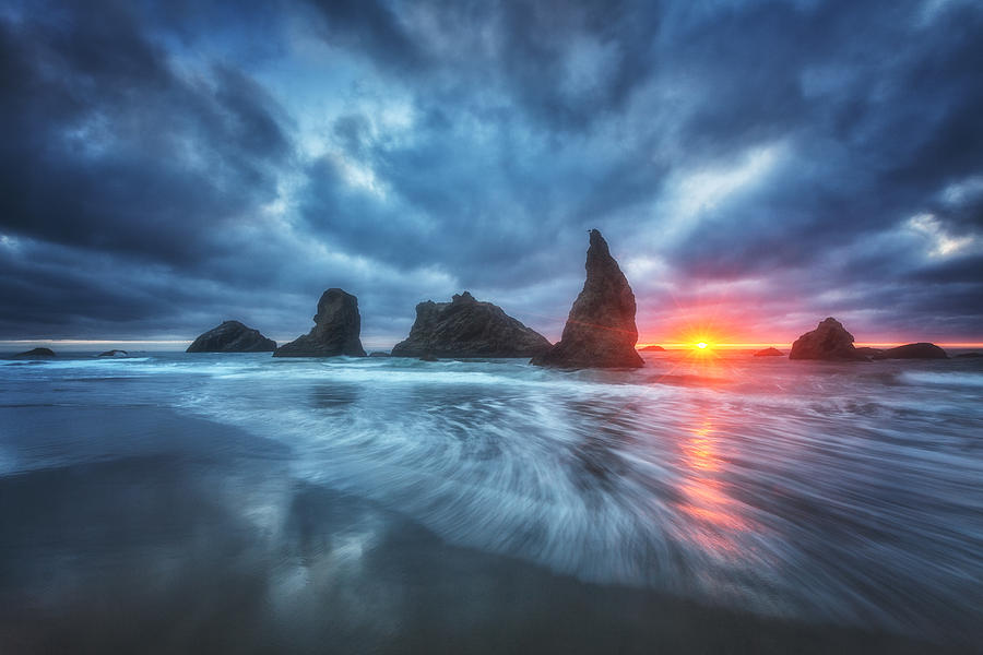 Oregon Photograph - Moody Blues Of Oregon by Darren  White