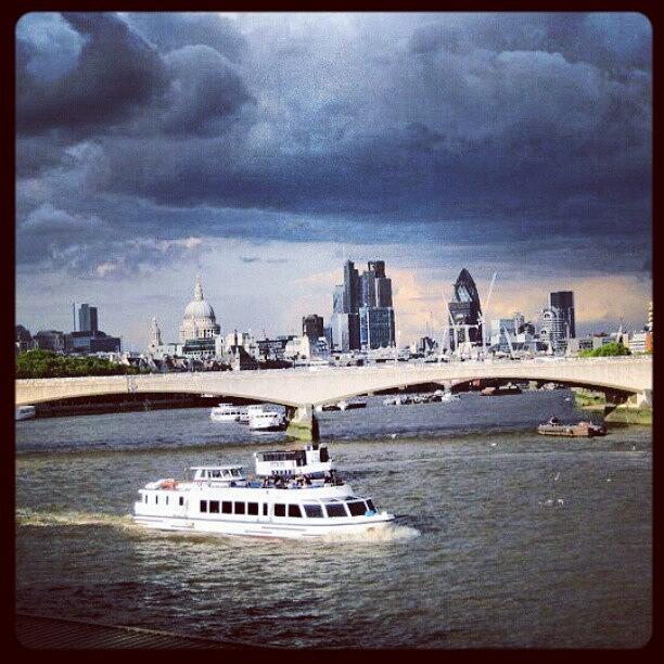 London Photograph - Moody London Skyline by Lottie H