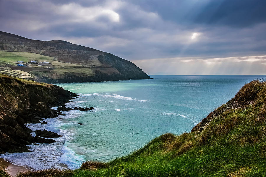 Horizon Photograph - Moody Weather At Slea-head by Leah Bignell