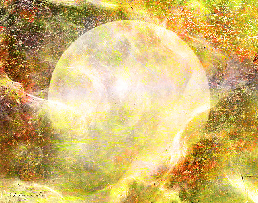 Moon Abstract by J Larry Walker
