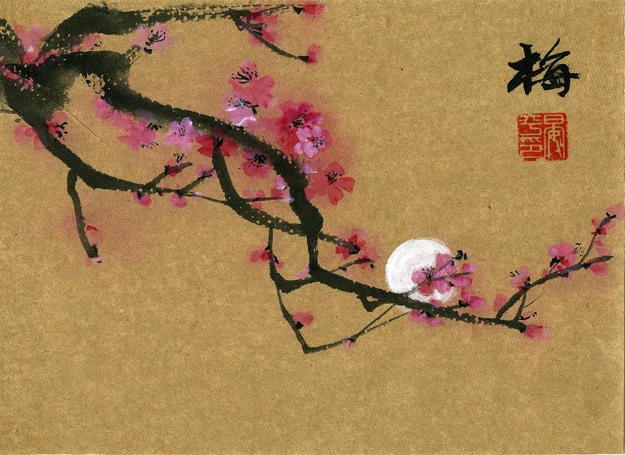 Moon and Plum by Ping Yan