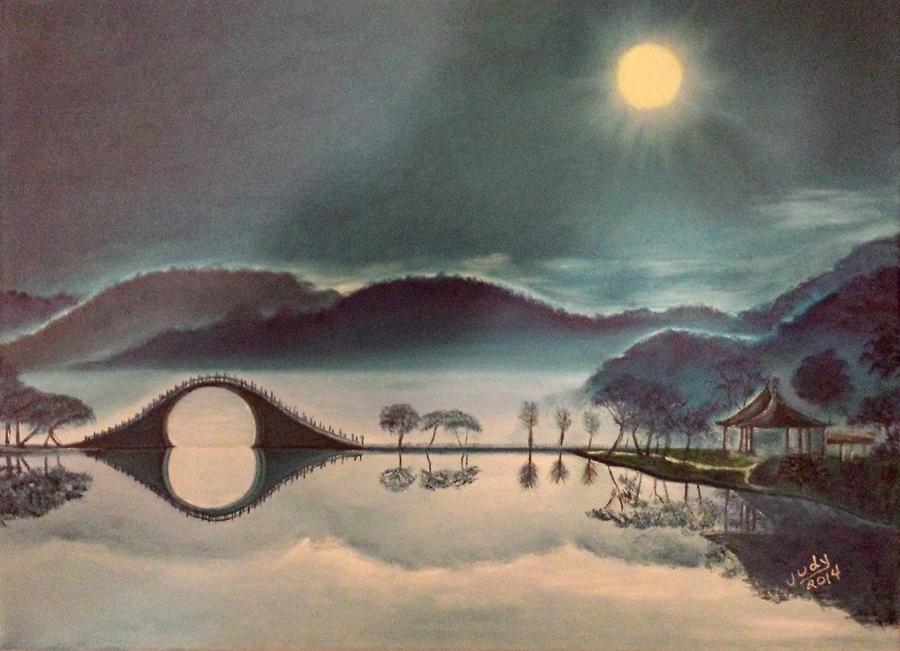 Moon Bridge Painting