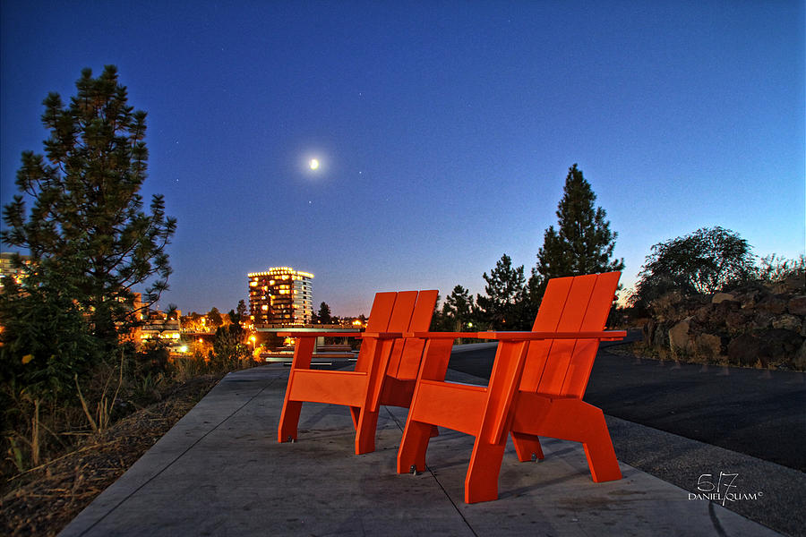 Moon Chairs Photograph by Dan Quam