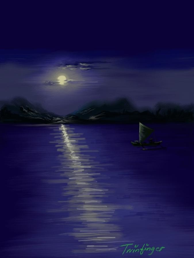 Moon Painting - Moon Light by Twinfinger