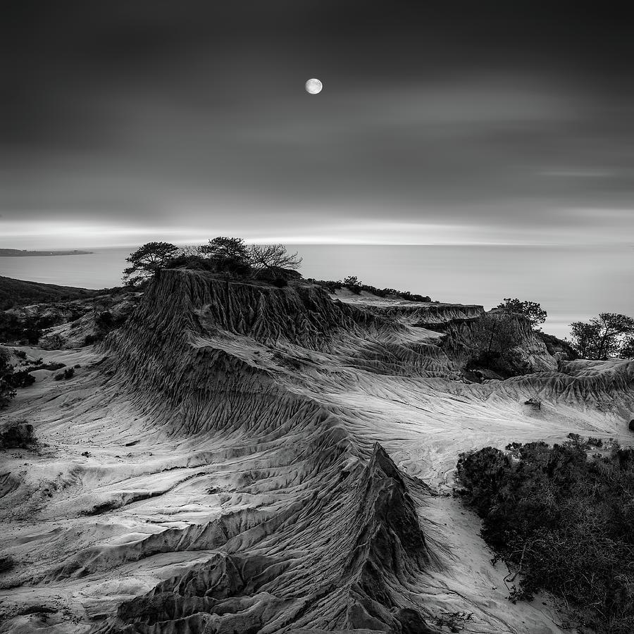 Coast Photograph - Moon Over Broken Hill by Yi Fan