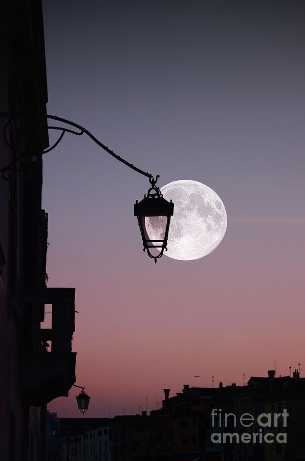 Moon Over Italy Photograph