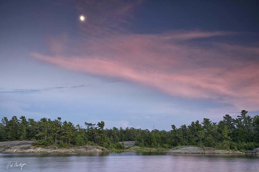 Archipelago Photograph - Moon Over The Bay by Phill Doherty