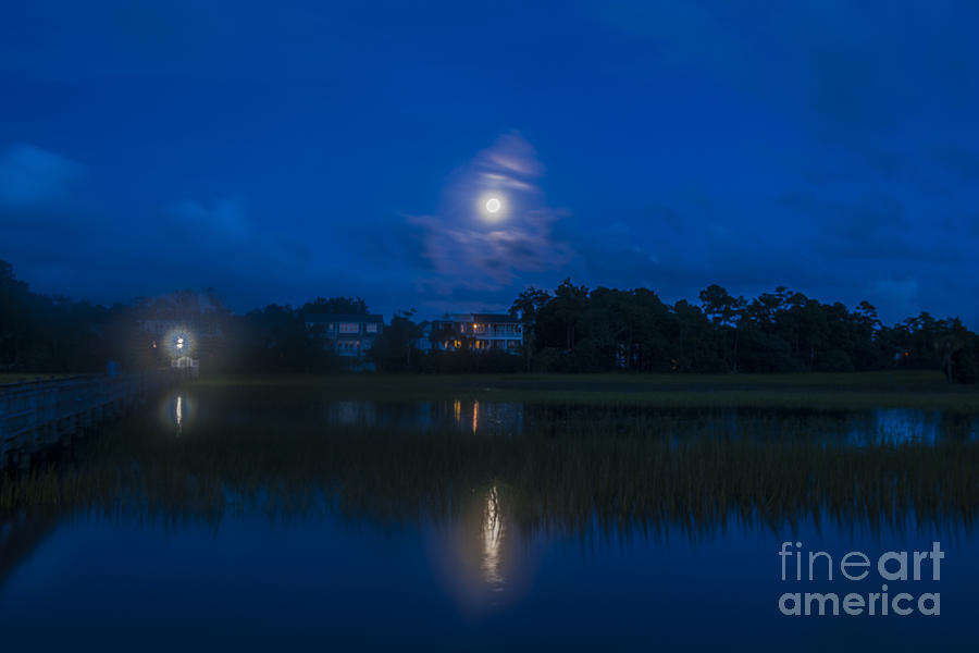 Moon Over The Wando Photograph