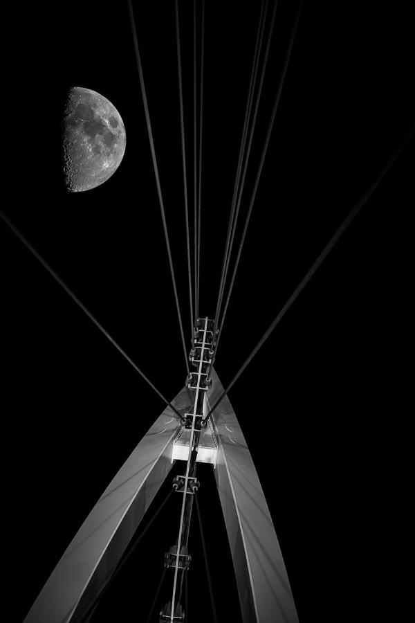Wall Decor Photograph - Moon Over Wichita by Garett Gabriel