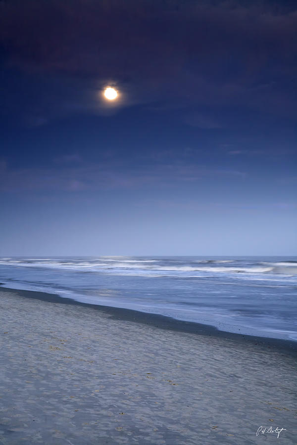 Beach Photograph - Moon Rising Over Hilton Head by Phill Doherty