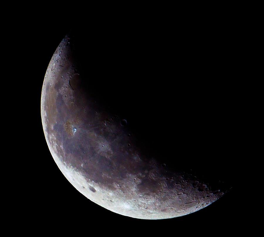 Half Moon Photograph - Moon Sliver by Todd Ryburn