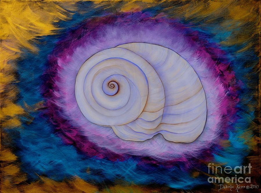Shell Painting Painting - Moon Snail by Deborha Kerr