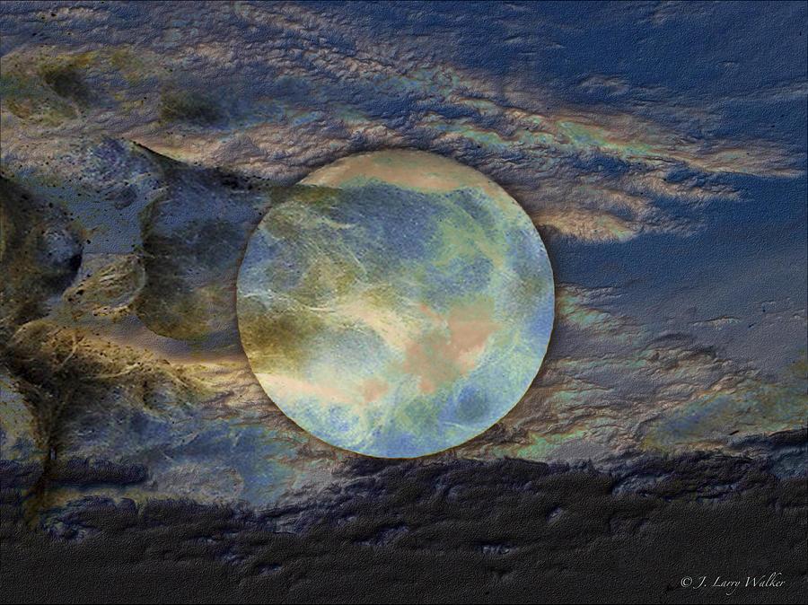 J Larry Walker Digital Art - Moon Theatrics by J Larry Walker