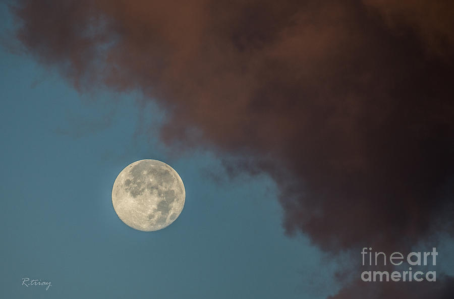 Moon Photograph - Moon Transition From Night To Day by Rene Triay Photography