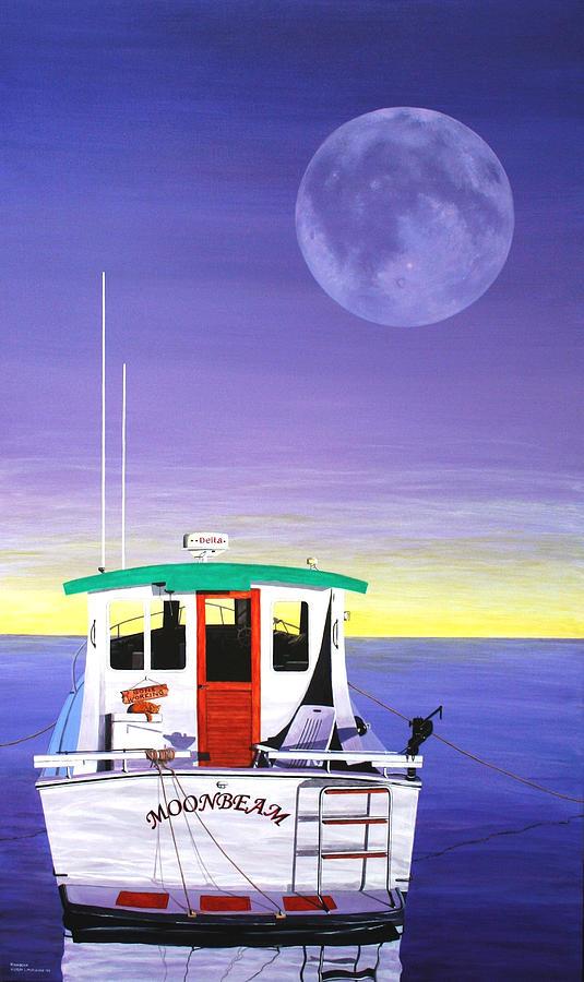 Seascape Painting - Moonbeam by Wilfrido Limvalencia