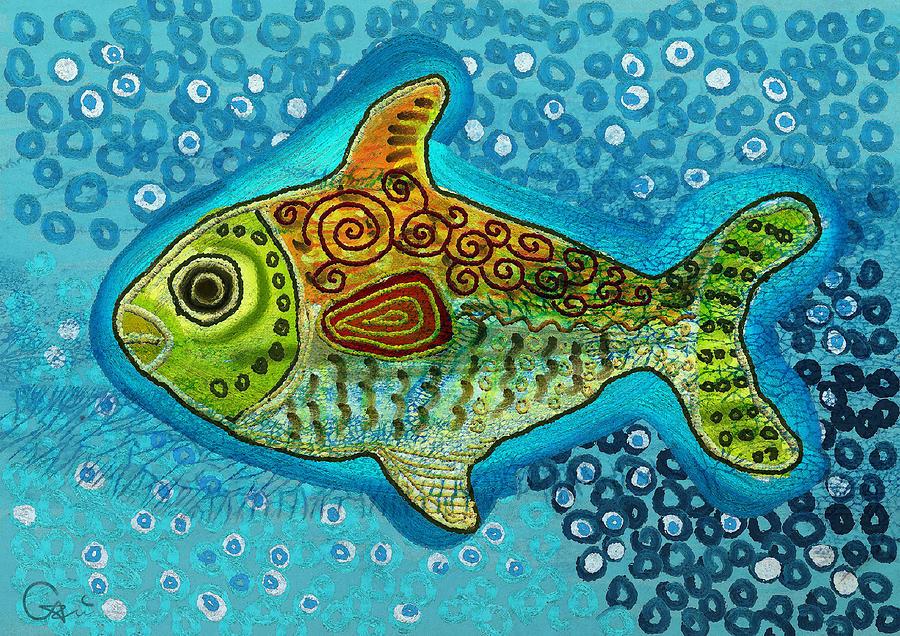 Fish Digital Art - Moonfish by Sergey Khreschatov