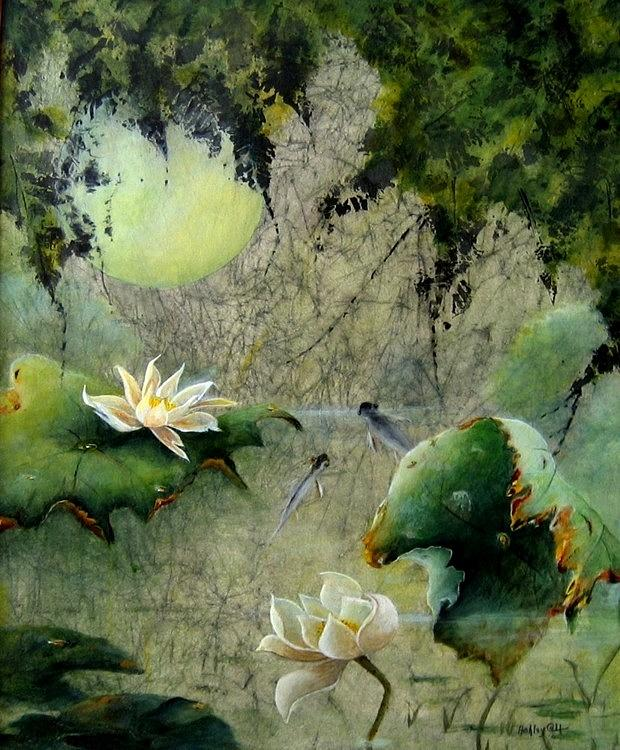 Landscape Painting - Moonglow by Ashley Coll