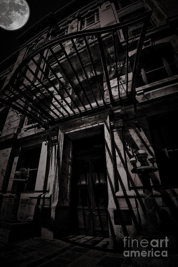 Moon Photograph - Moonin Munster Manor by Robert McCubbin