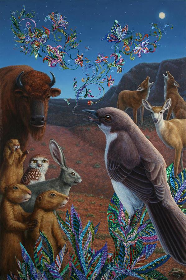 Mockingbird Painting - Moonlight Cantata by James W Johnson