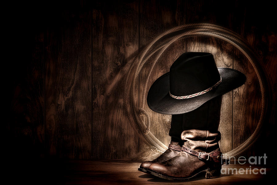 Western Photograph - Moonlight Cowboy by Olivier Le Queinec
