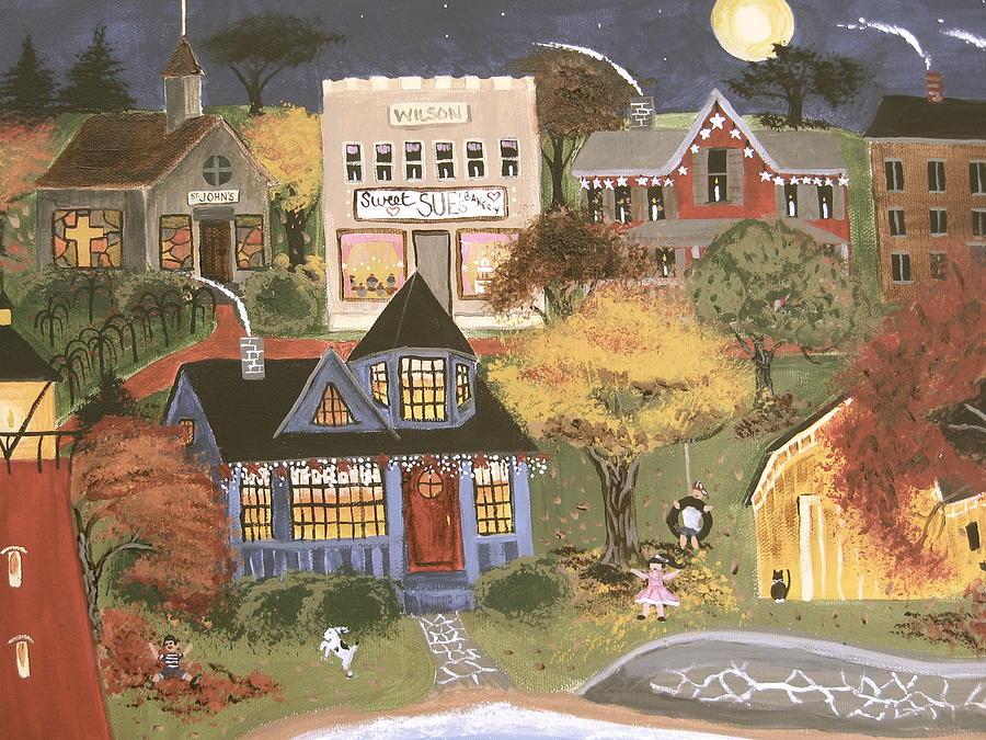 Autumn Painting - Moonlight Dance by Kori Vincent