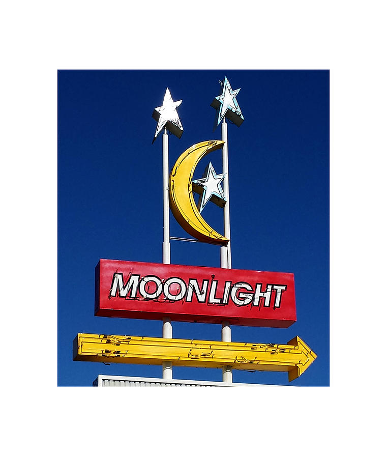 Vintage Sign Art Photograph - Moonlight Drive In by Gail Lawnicki