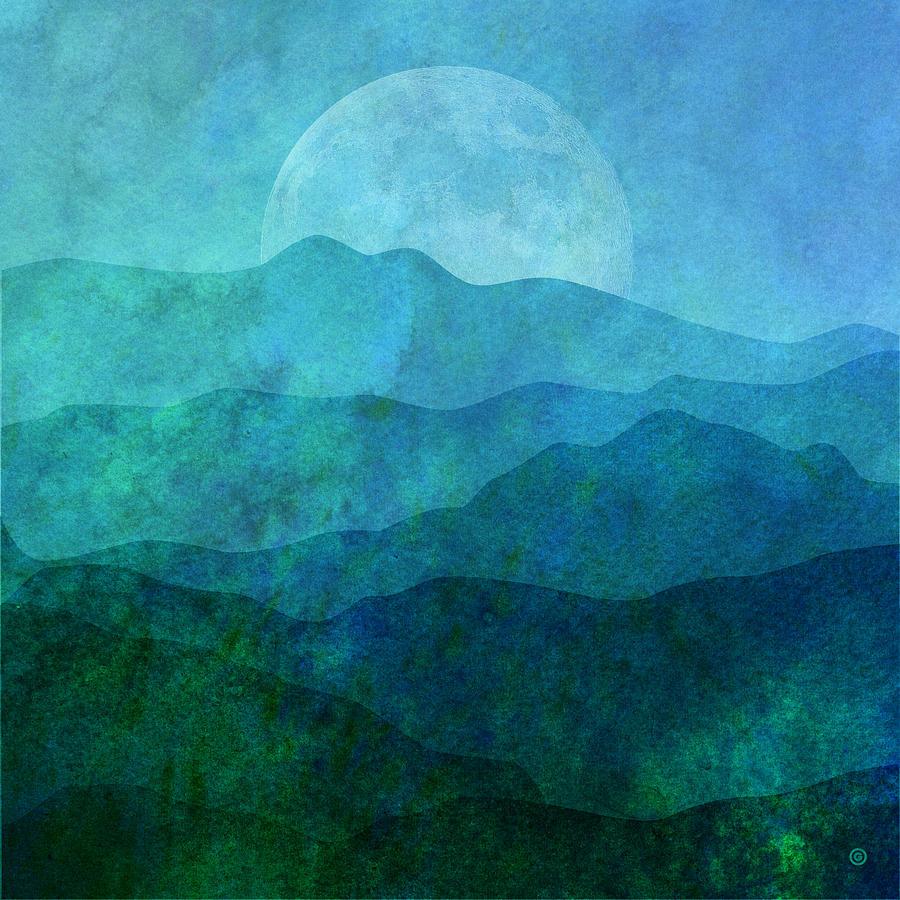 Vector Digital Art - Moonlight Hills by Gary Grayson