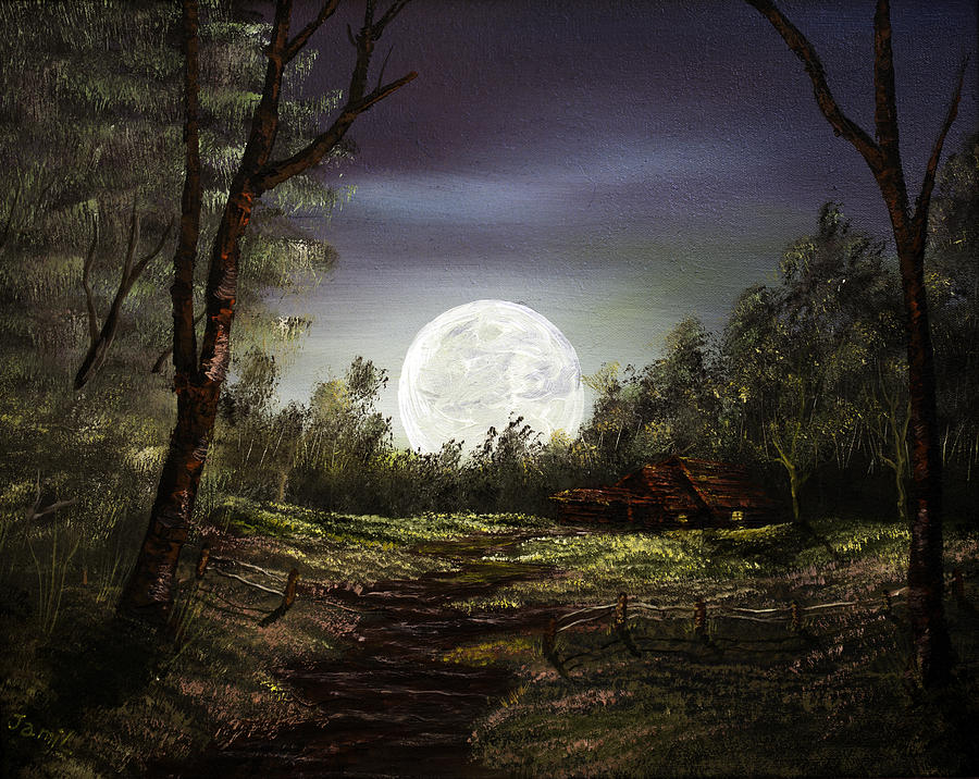Moonlight Painting - Moonlight  by Jamil Alkhoury