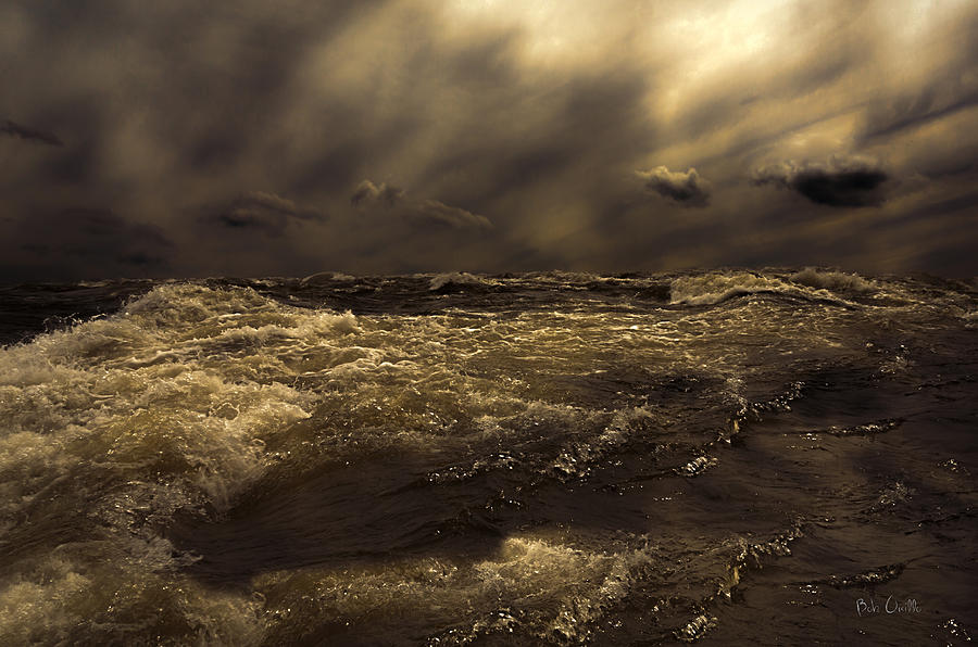Seascape Photograph - Moonlight On The Water by Bob Orsillo