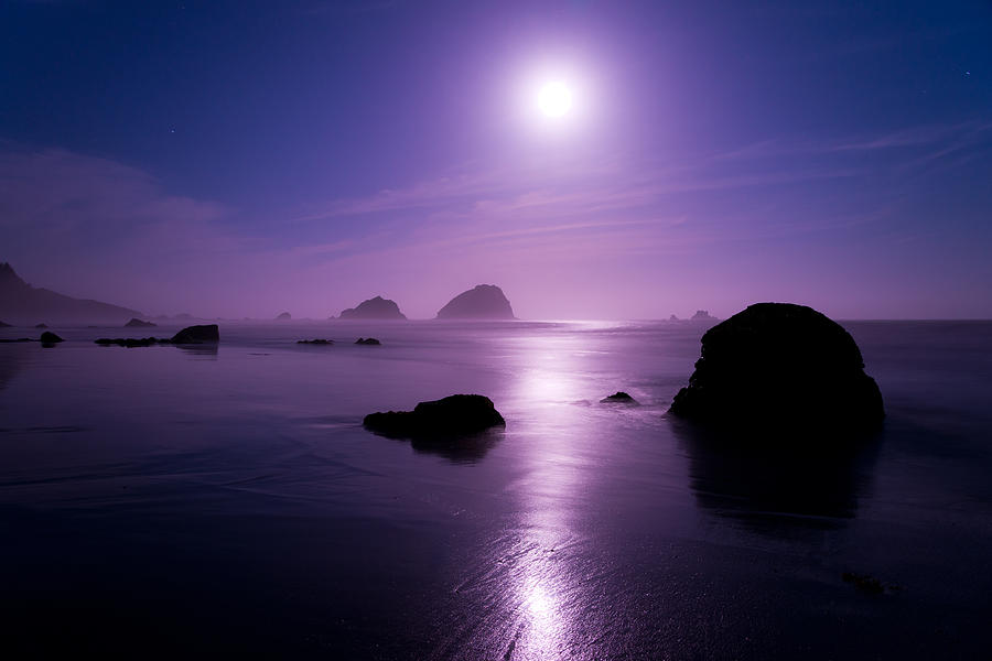 California Photograph - Moonlight Reflection by Chad Dutson