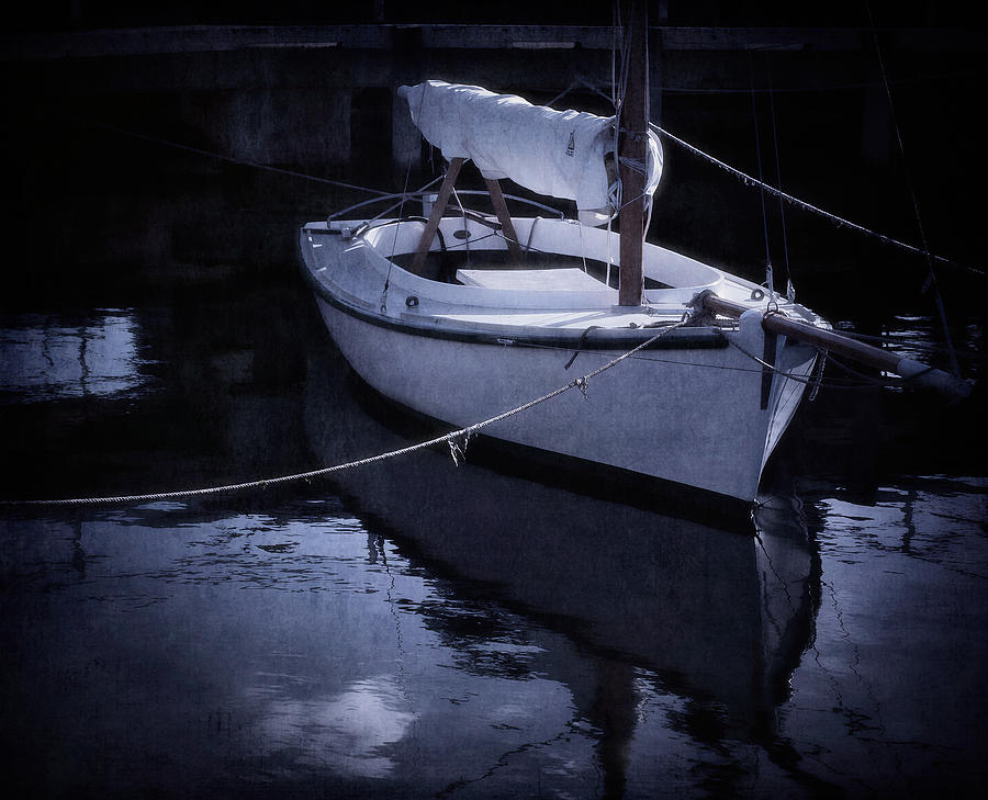 Boat Photograph - Moonlight Sail by Amy Weiss