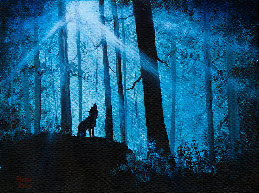 Landscape Painting - Moonlight Serenade by C Steele