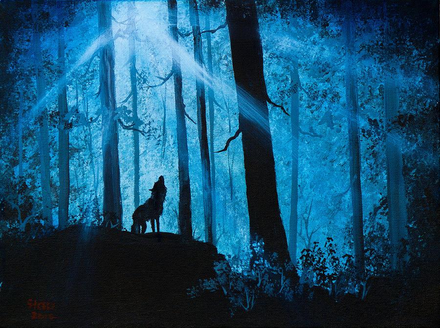 Landscape Painting - Moonlight Serenade by Chris Steele