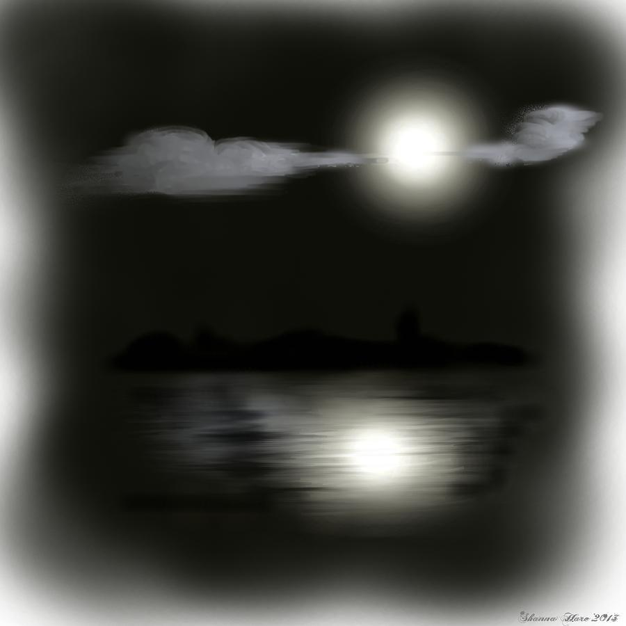 Moon Digital Art - Moonlight by Shanna Hare