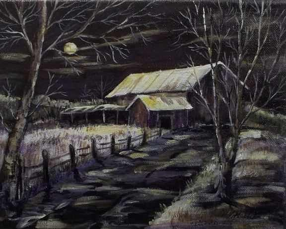 Country Landscape Painting - Moonlight Sonata by Carol Kable