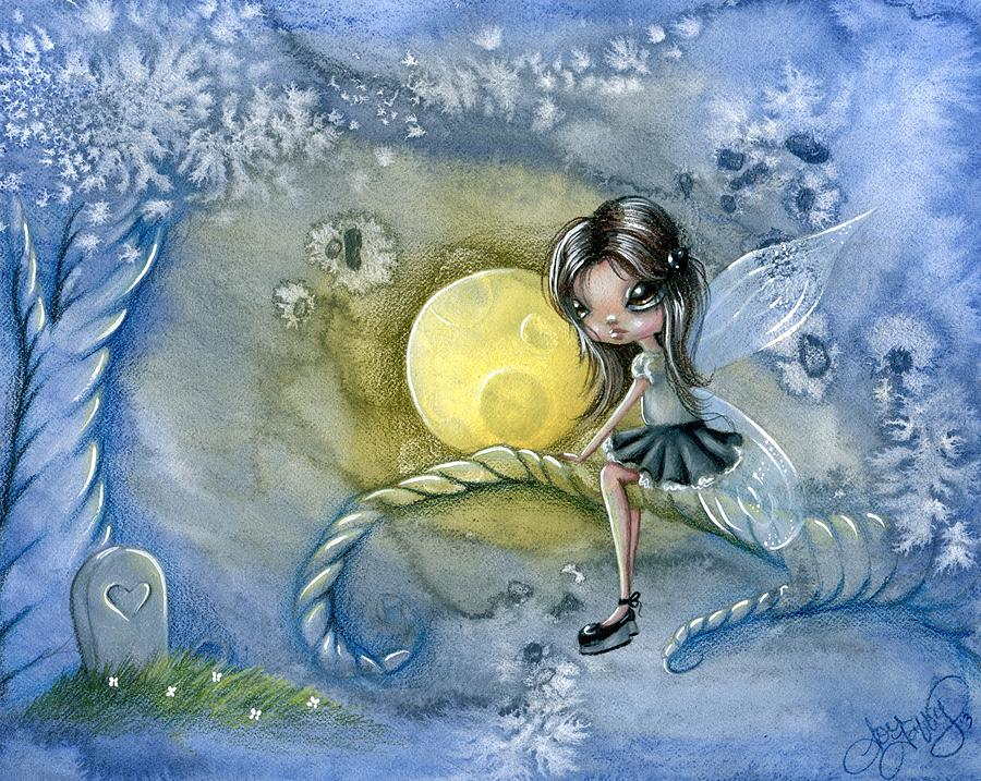 Whimsical Drawing - Moonlight by Sour Taffy