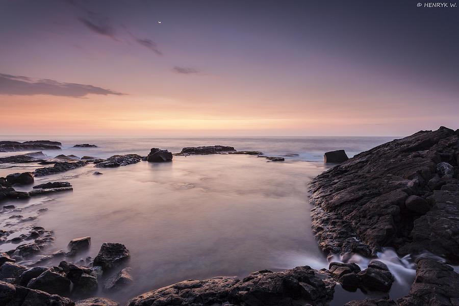 Usa Photograph - Moonlight Sunset by Henryk Welle