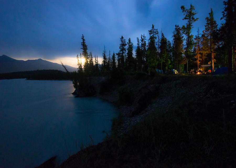 A77 Photograph - Moonrise At Wabasso Campground by Cale Best